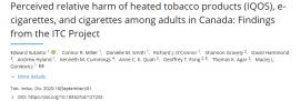 آسیب نسبی ادراک شده از محصولات دخانی غیر تدخینی؛ IQOS، سیگارهای الکترونیکی، و سیگار، در میان بزرگسالان در کانادا: یافته های پروژه ITC