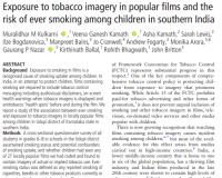 قرار گرفتن در معرض تصاویر دخانیات در فیلمهای مشهور و خطر سیگار کشیدن در میان کودکان در جنوب هند