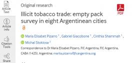 تجارت غیرقانونی دخانیات: بررسی بستههای خالی در هشت شهر آرژانتین